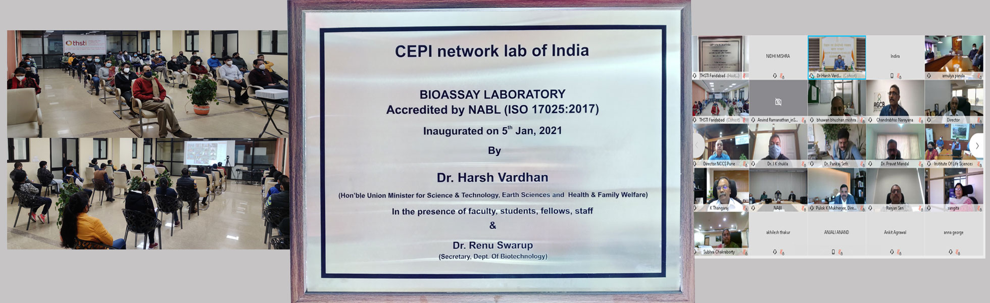 Honorable Minister Dr. Harsh Vardhan inaugurates CEPI-Bioassay Lab